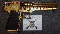 Magnum Research Desert Eagle w/Gold Tiger Stripe Finish