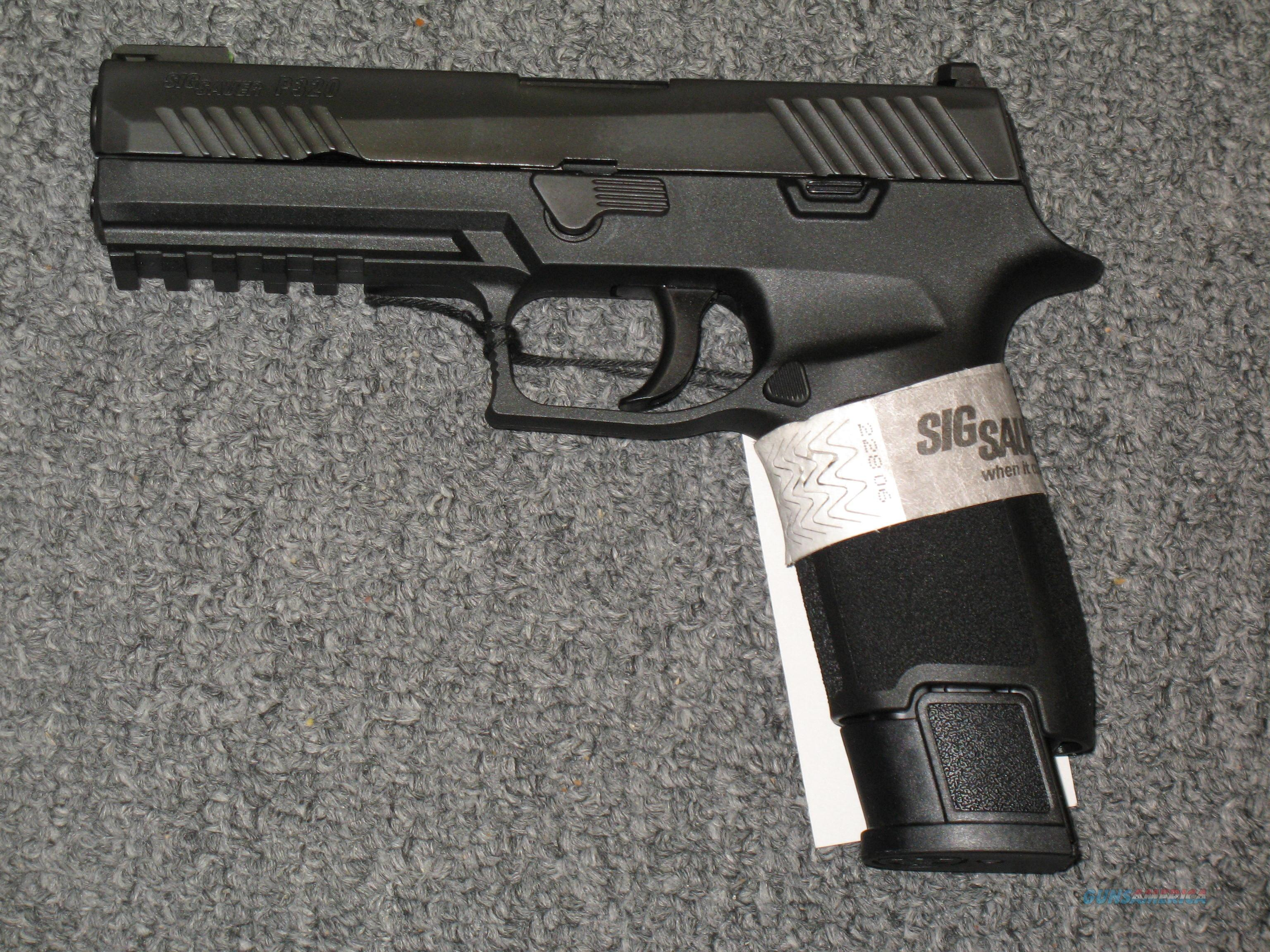 P320F TACOPS w/4 21 rd  mags   9mm Night Sights