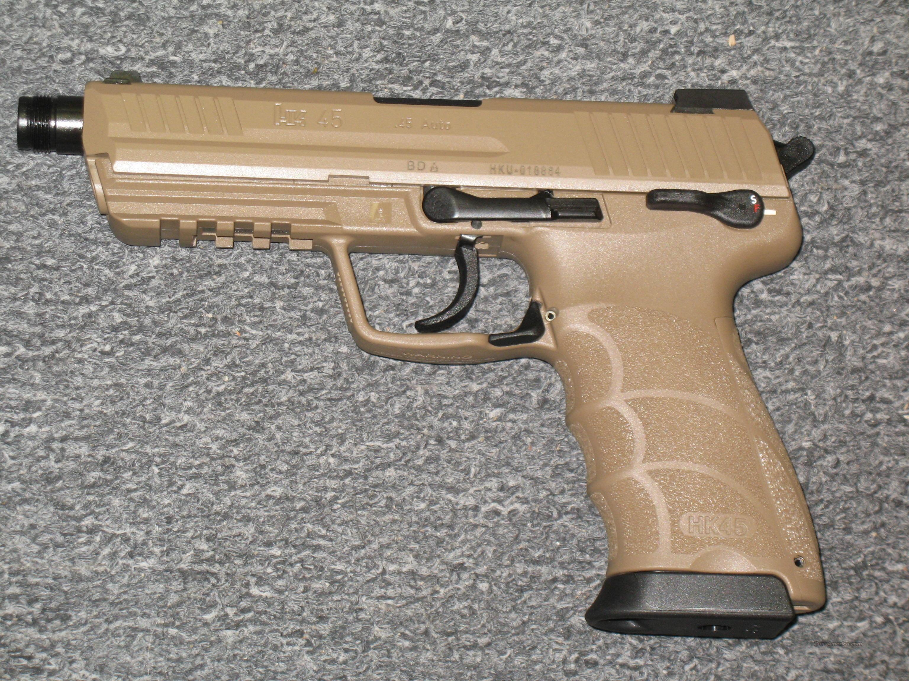 HK45 Tactical w/Flat Dark Earth finish