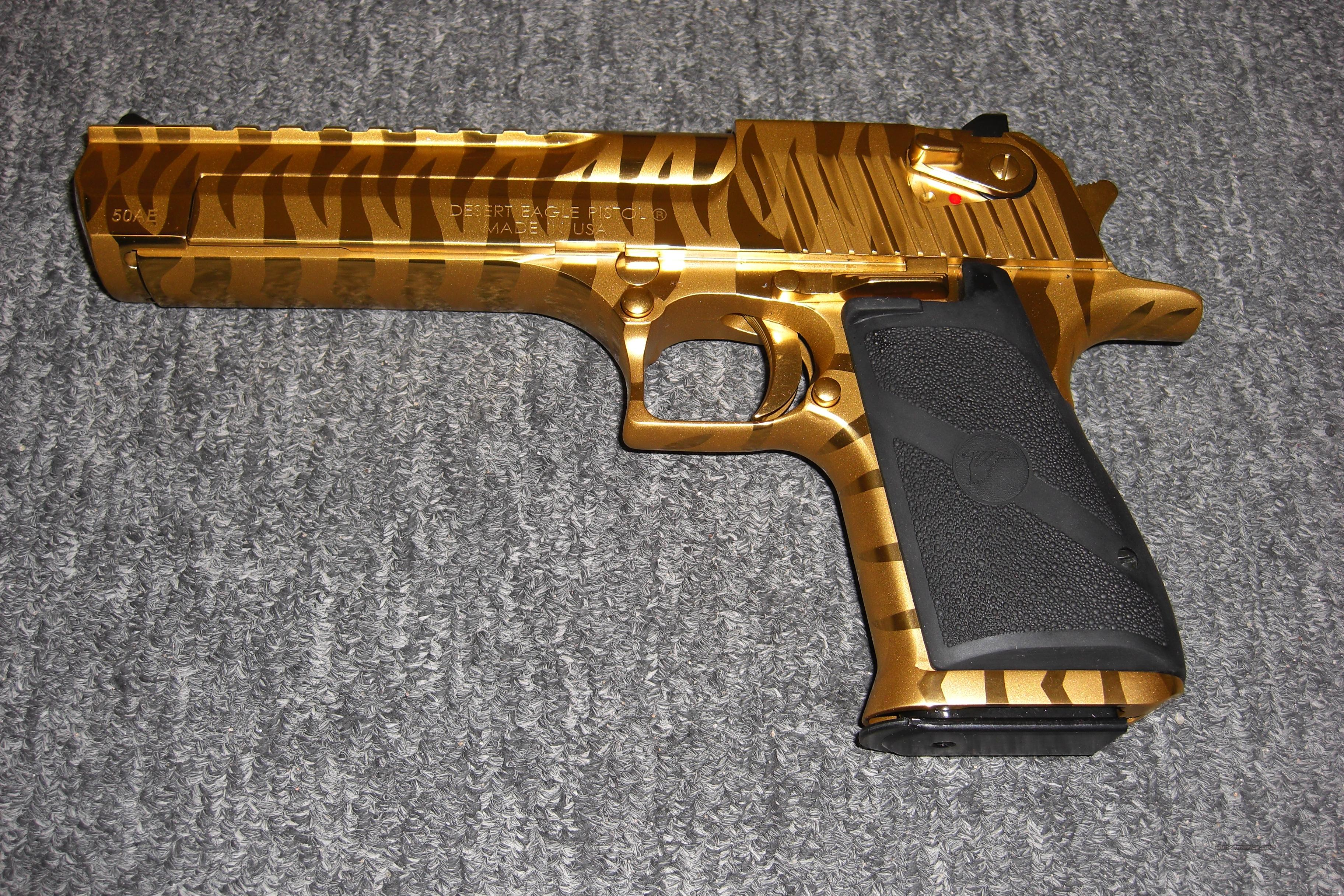 Desert Eagle Titanium Gold Bengal Tiger Stripe For Sale