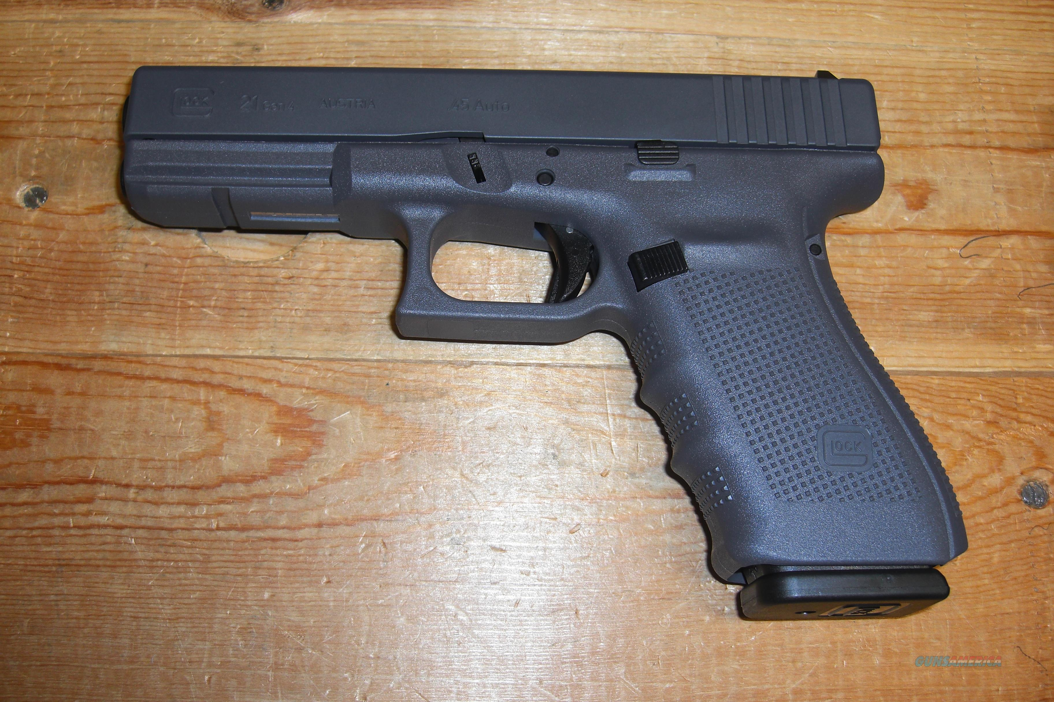 Glock 21 Gen 4 w/gray colored frame, 3 13 rd. m... for sale
