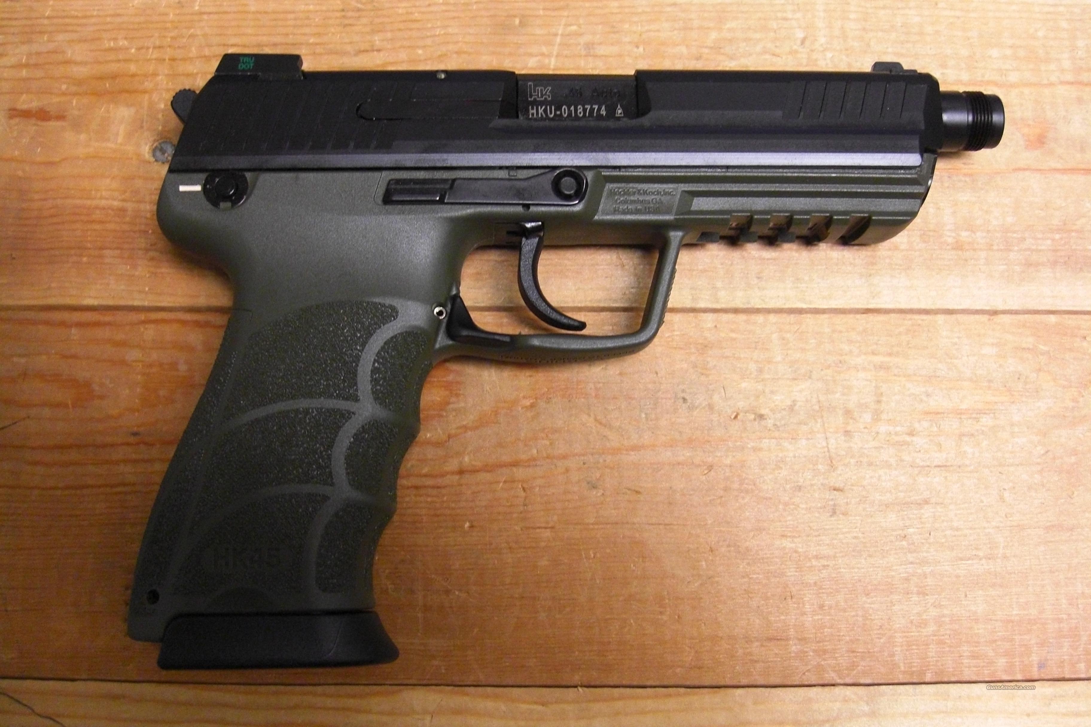 HK45 Tactical w/OD Green frame