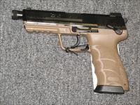 HK45 Tactical V1 w/Tan & Black Finish (Night Sights)