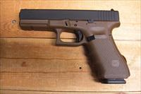 17 Gen 4 w/Flat dark earth finish, 3 17 rd. mags.