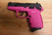 SCCY CPX-1 w/2 tone pink and black finish, has an external safety