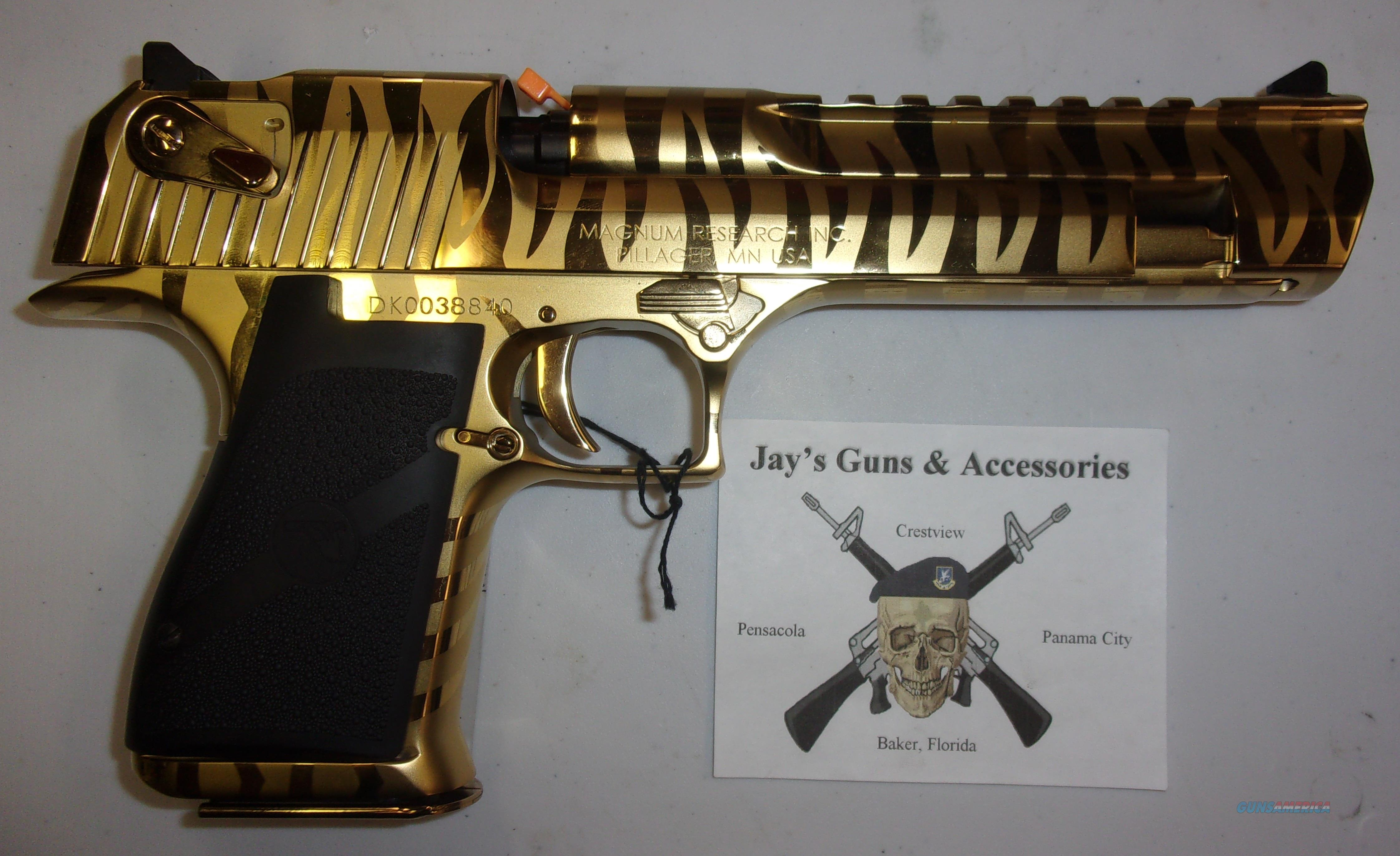 Magnum Research Desert Eagle W Gold Tiger Strip For Sale