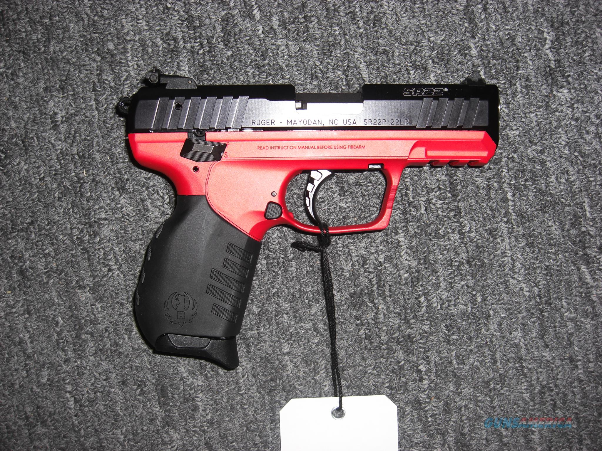 Ruger Sr22 Wtitan Red Finish For Sale