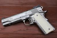 Colt Gold Cup Trophy S/S 45acp Fully Engraved with bone grips NIB