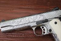 Fully Engraved Ruger SR1911 with Bone grips