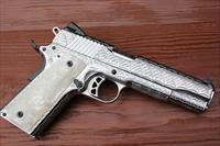 Fully Engraved Ruger SR1911 45acp high polish stainless steel NIB