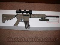 DIAMONDBACK DARK EARTH 5.56/.223 SEMI-AUTO RIFLE WITH SCOPE AND LITE