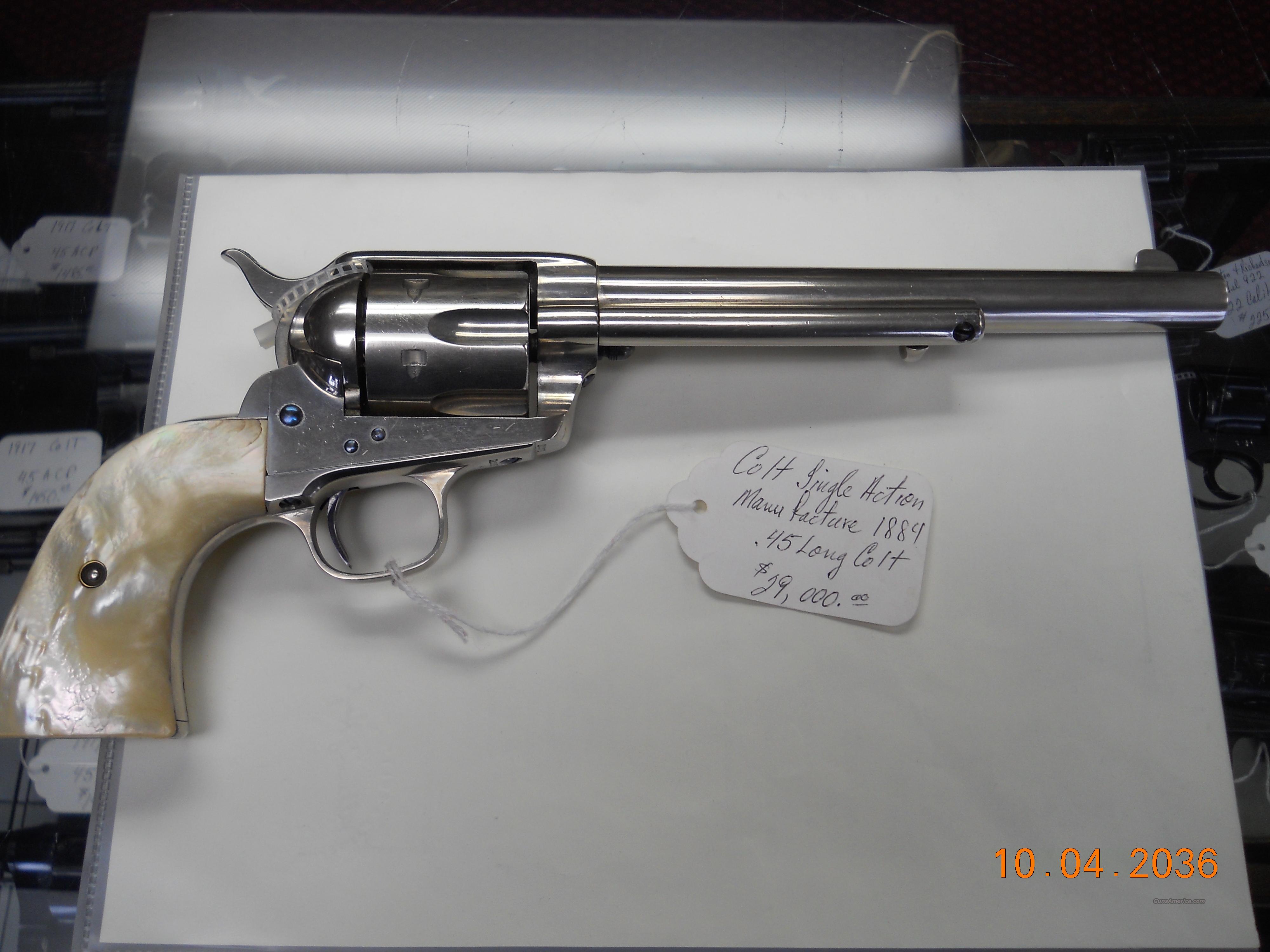 1884 colt single action revolver 45 long colt for sale