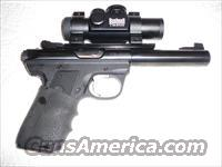 NICE!!  RUGER .22/45 TARGET .22 CAL. SEMI-AUTO PISTOL WITH RED DOT SCOPE