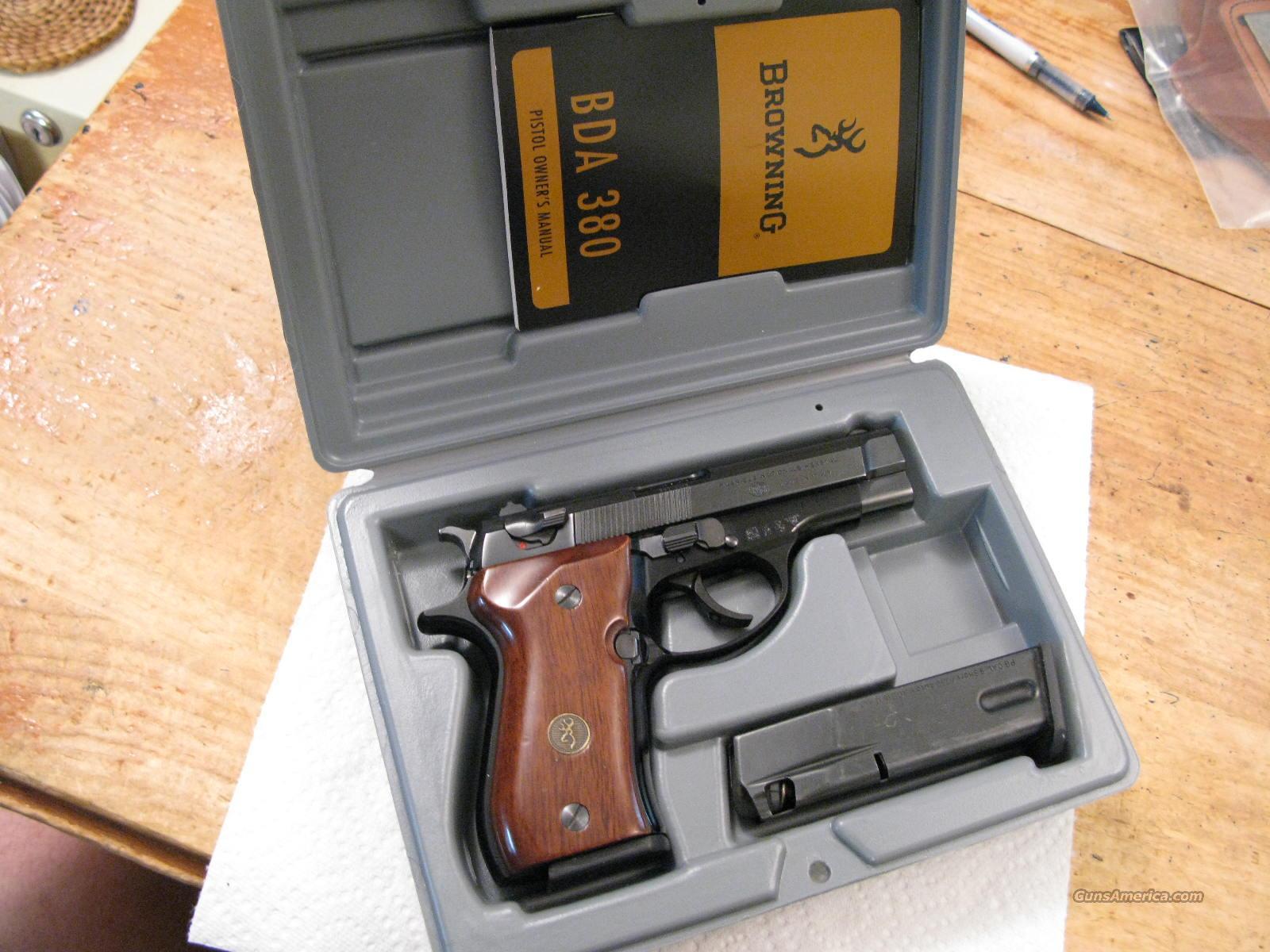 BROWNING BDA 380 pistol Owners Gun Manual