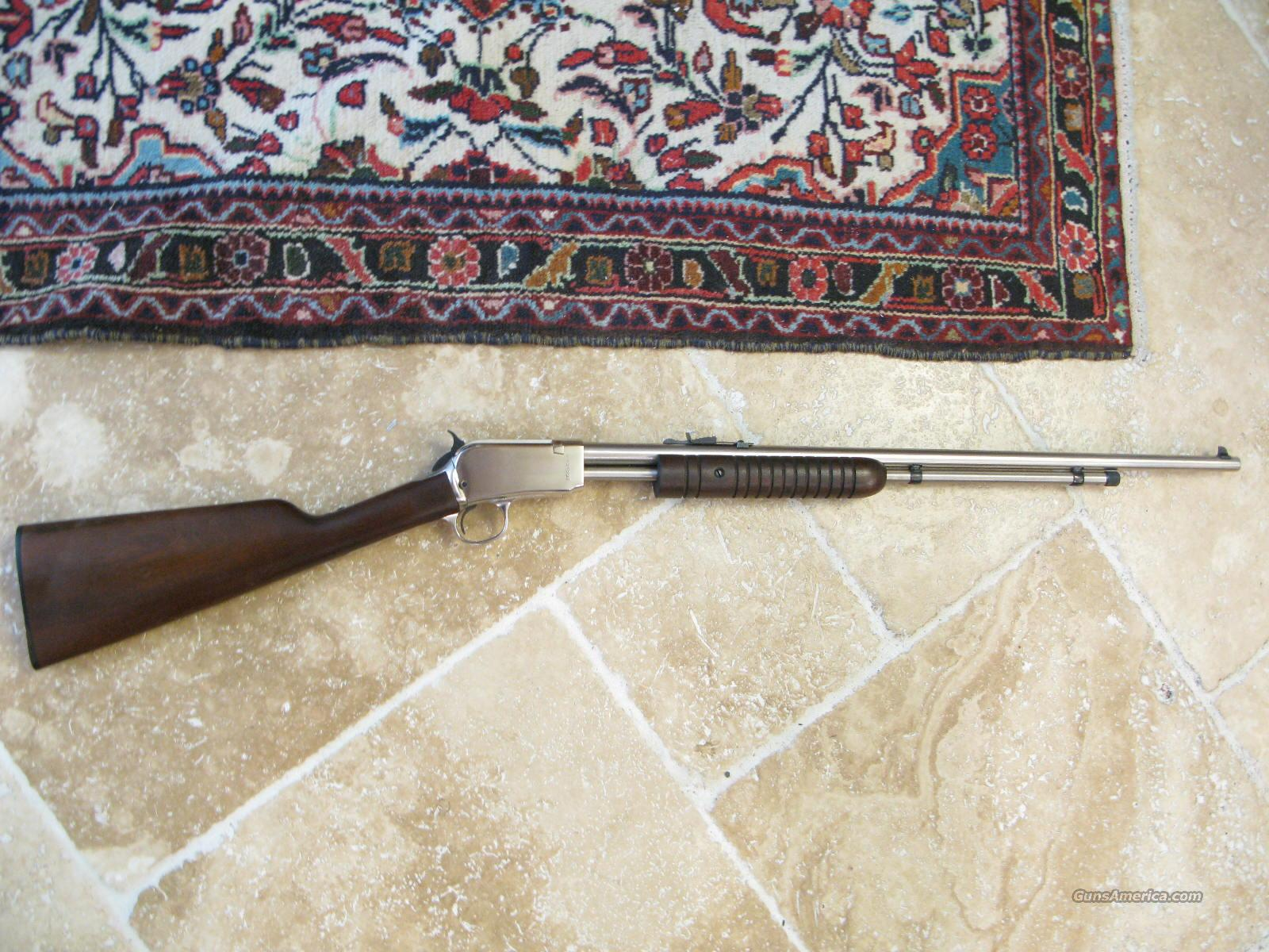 Rossi M-62 SA .22 LR Only Full Nickel Gallery Gun Guns > Rifles