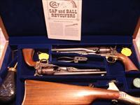Colt US Cavalry 200th Ann. 2- Gun Set MFG 1997 1860 Army Cap & Ball revolvers NIC
