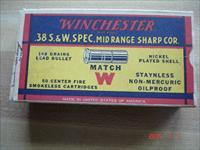 Empty vintage Winchester .38S&W MATCH Box
