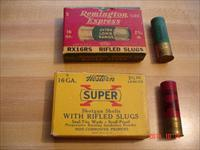 Vintage 16Ga Slugs Remington & SuperX Full Boxes