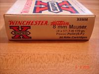 Winchester 8m/m Mauser 170Gr SP Ammo