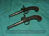 SCOTTISH PAIR OF PERCUSSION PISTOLS