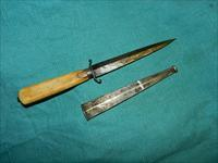 EARLY BOOT DAGGER IVORY HANDLE
