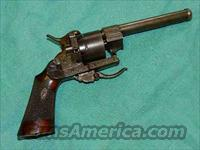 FRENCH ENGRAVED PIN FIRE REVOLVER