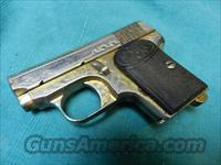 FABRIQUE ARMS ENGRAVED GOLD WASHED .25ACP