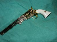 ENGRAVED F.LLIPIETTA .44 BLACK POWDER PISTOL