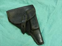 GERMAN P38 BLACK LEATHER HOLSTER