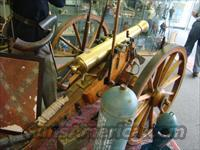 BRONZE BRL. CIVIL WAR TYPE REPRODUCTION CANNON COMPLETE