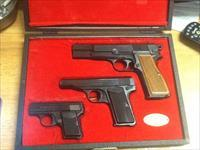 Belgium browning 3 gun factory pistol set high power 380 and 25 acp