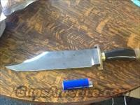 Very nice massive antique Sheffield Bowie knife