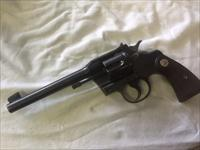 Tight clean colt officers model 22lr 6in match revolver 1920's manf