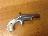 Colt Thuer model derringer 41 cal nickel with ORIGL. Real mother of pearl grips