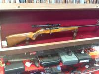 Very nice old MOSSBERG model 341b single shot 22 s-l-lr with 4x scope