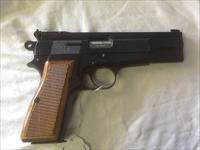 1969 BELGUIM  browning hi power 9mm ring hammer target bomar adj sights and rib