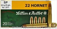 Sellier & Bellot Ammo 22 Hornet 45 GR Soft Point