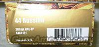 .44 RUSSIAN * FACTORY NEW AMMUNITION *** $50.00 WITH FREE SHIPPING!!!! CREDIT CARD SAME AS CASH!!!!