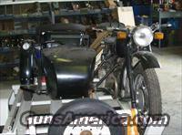 WWII BMW TYPE SIDE CAR MOTORCYCLE - $13,000.00