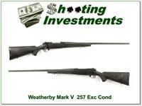 Weatherby Mark V 26in Synthetic 257 Exc Cond with 2 stocks!