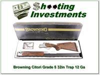 Browning Citori Grade 5 collector NIB 12 Ga Trap 32in