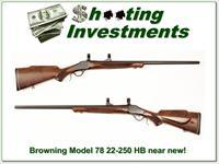 Browning Model 78 22-250 Heavy Barrel near new!