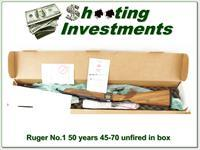 Ruger No.1 45-70 50 Years NIB XX Wood