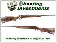 Browning Safari Grade 1972 243 XX Wood!