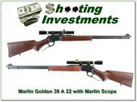 Marlin Golden 39 A JM Marked pre-safety 22LR rare Golden SCOPE