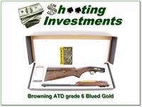 Browning 22 Auto Grade 6 VI Blued with gold NIB
