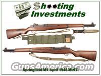 1945 Springfield Armory M1 Garand 30-06 Collector Condition!