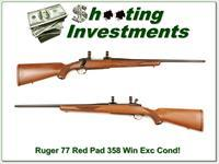 Ruger 77 Red Pad in 358 Winchester Exc Cond!
