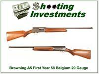 Browning A5 First Year 20 Gauge 58 Belgium 26in IC