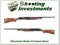 Winchester Model 12 Trap 12 Ga Custom Wood Vent Rib made in 1948